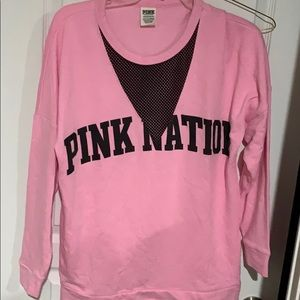 Victoria's Secret pink nation sweatshirt.